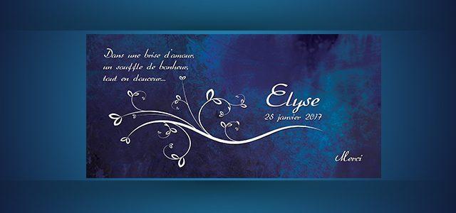 Remerciement – Faire Part : Elyse