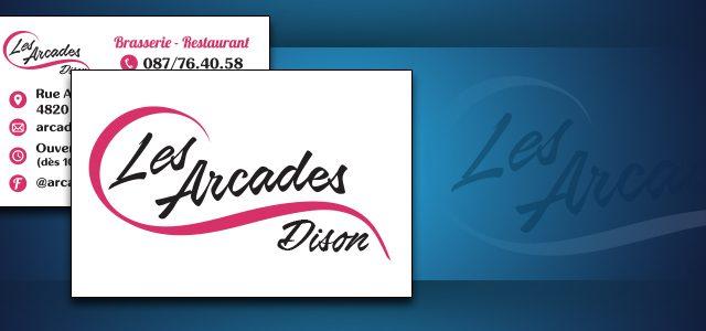 Identité Visuelle pour la brasserie «Les Arcades»